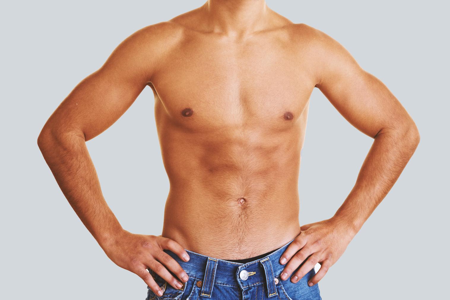 Wiederherstellung der männlichen Brustform
